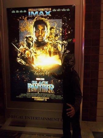 Regal Cinemas Pinnacle 18: My son at Black Panther Fan Event Night