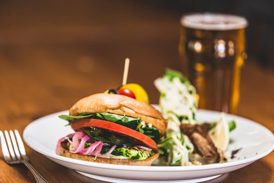 Fernie, Canada: Grilled Haloumi Cheese Burger