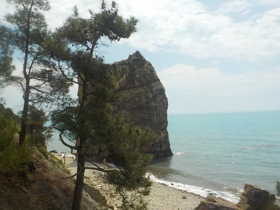 Praskoveyevka, Russia: Вид на скалу сверху