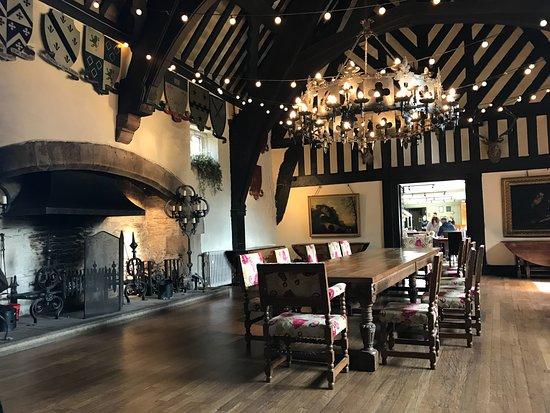Samlesbury Hall: Inside the main dining room of the Hall
