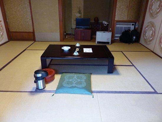 Fukuchi-in Temple: Teetisch bei der Ankunft im Zimmer
