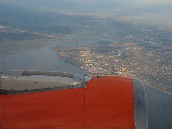 easyJet: Vista aerea pós descolagem em Lisboa