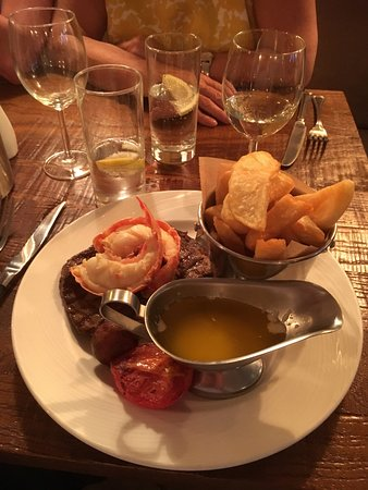 West Malling, UK: surf and turf but not my cup of tea