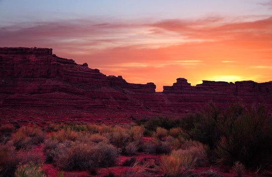 Valley of the Gods: View From East Side of VOTGs.