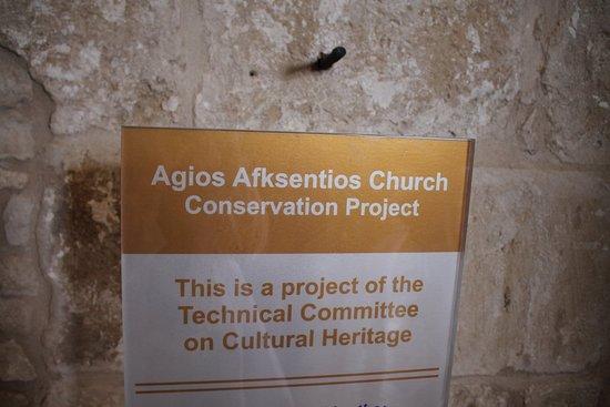 Buyukkonuk, Kıbrıs: The explanation about the conservation project of Agios Afksentios Church