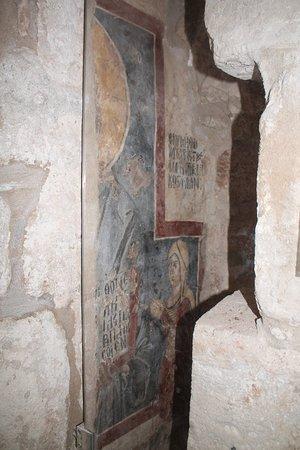Buyukkonuk, قبرص: A painted wall - inside of Agios Afksentios Church