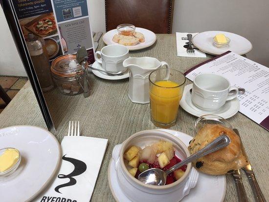 colazione del mattino al Byfords