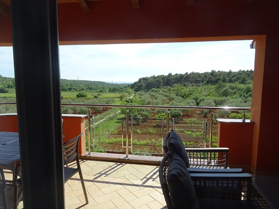 Rovinjsko Selo, Хорватия: superbe terrasse