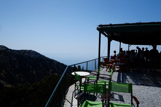 Klados Travel: Coffee stop at the top of Imbros Gorge