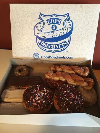 Cops & Doughnuts - Jay's Precinct: Top left doughnut is a standard doughnut for comparison!