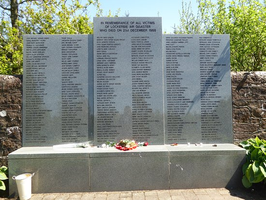 Lockerbie, UK: The names of all those who perished.