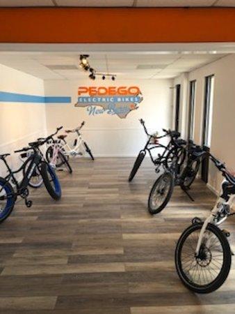 The Pedego New Bern showroom