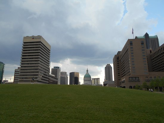 The Gateway Arch: View toward City