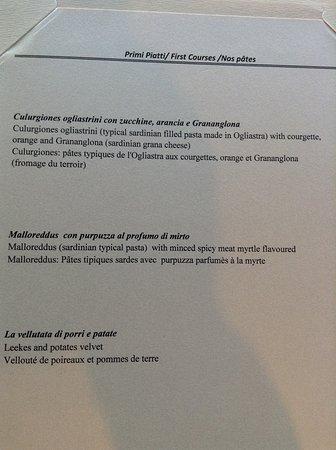 Baga Baga: Primi Piatti (2)
