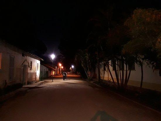 Parque Vicentina Aranha: Casas antigas dentro do parque.
