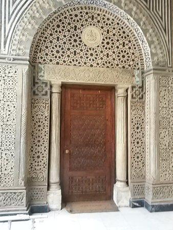 Le Vieux Caire (Quartier copte) : Door at Hanging Church with Plaque