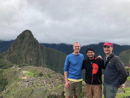 SAM Travel Peru: Descending the Inca Trail with our guide.