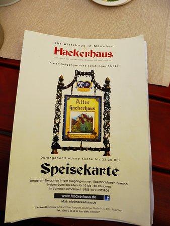 Hackerhaus: Restaurant Menu Cover