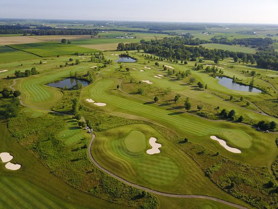 """Marysville, OH: Front 9 of """"The Links"""" with wind swept natural grasses."""