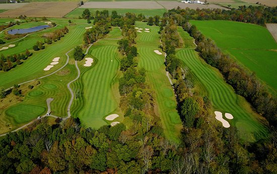 """Marysville, OH: Back 9 of """"The Woods"""" more traditional look and feel carved through the tree lined fairways."""