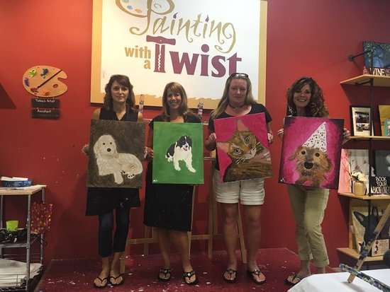 Lancaster, Нью-Йорк: Paint Your Pet - Custom Artwork. Monthly event.