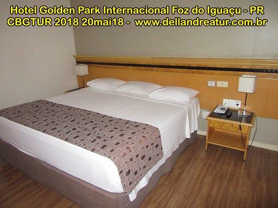 Golden Park Internacional Foz : cama grande