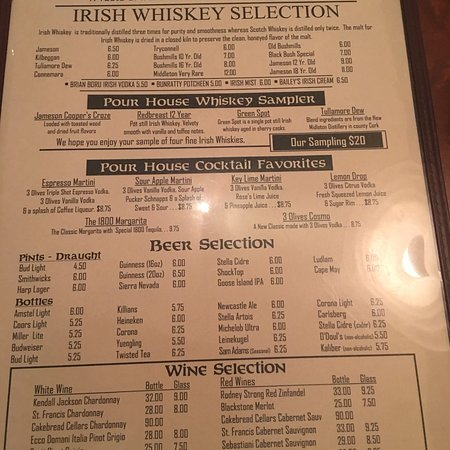 O'Donnell's Pour House : Menus, views, my espresso martini and my 20 ounce draft Guinness