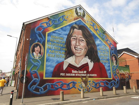 Paddy Campbell's Belfast Famous Black Cab Tours: Bobby Sands mural on Shin Fein building