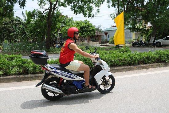 Motorbike Tours Hanoi: ride motorbike in ninh binh