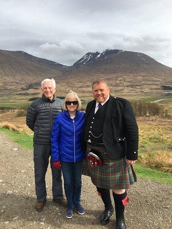 Dearing, Bobbie and Cam near the Glencoe massacre