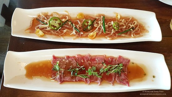 Morimoto Asia: Jellyfish and Beef Carpaccio