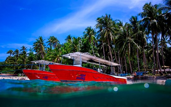 Asia Divers : We have two twin engine speedboats which can get us to Verde Island in less than 30 minutes
