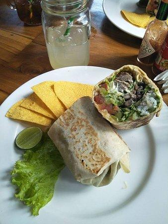 Taco Casa: Best burrito ever - 8 layer burrito with beef and lime/cilantro rice