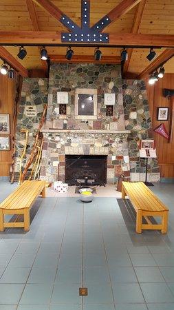 Visit Bemidji: 50 states Fireplace