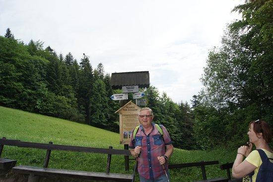 Trzy Korony Summit: Przełęcz Szopka (Chwała Bogu).