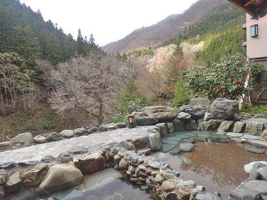 Minakamisanso: Ванна на открутом воздухе с прекрасным видом