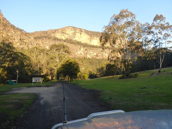 Coorongooba Campground: driving into the grounds