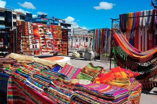 Mercado Otavalo, volcán Cayambe, laguna de Cuicocha desde Quito