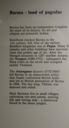 Abbey Museum of Art and Archaeology: Information about Burma - land of pagodas