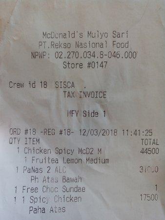 McDonald's Mulyosari : Ice cone Mocca
