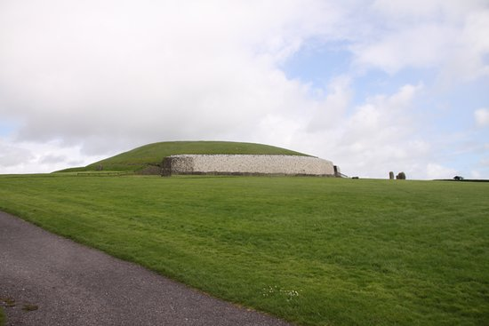 Newgrange from kiosk at entrance to the site