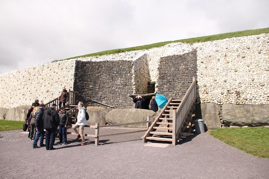 Newgrange: General view of entrance to the mound