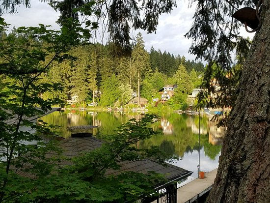 Maple Valley, WA: View of the lake from the patio area.