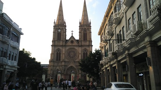 Sacred Heart Cathedral : the surroundings of the csthedral
