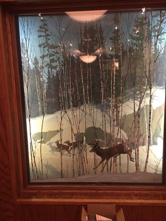 Aitkin, MN: One of the local dioramas done by the home town artist
