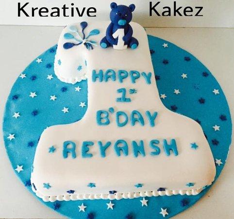 Kreative Kakez: First Birthday cake