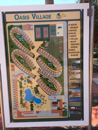 Oasis Village: Plan du village