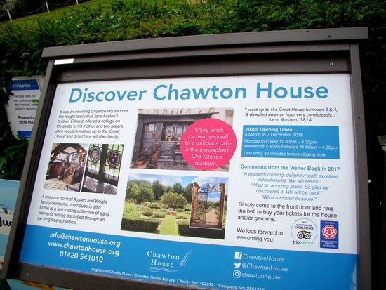 Chawton House : Entrance times and info