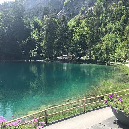 Blausee-Mitholz, Szwajcaria: Türkis farbenes Wasser wohin man schaut!