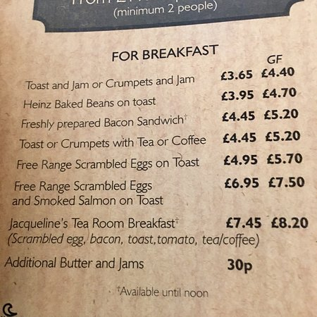 Jacqueline's Tea Room: £7.40 for that! Disgusting